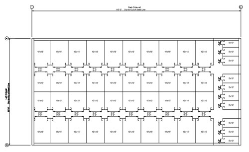 Climate Controlled Storage Unit Layout